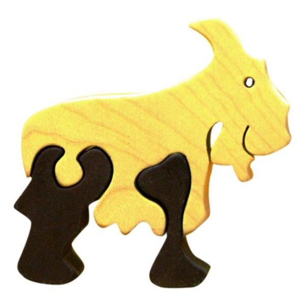 FAUNA Dřevěné puzzle Kozel malý