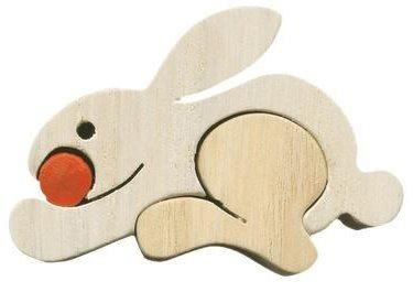 FAUNA Dřevěné puzzle Králík malý