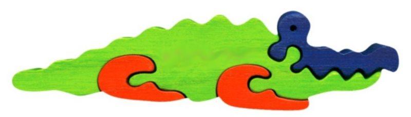 FAUNA Dřevěné puzzle Krokodýl malý