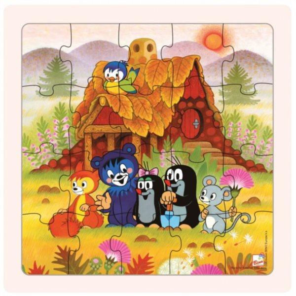 BINO Dřevěné puzzle Krtek a kamarádi 20 dílků