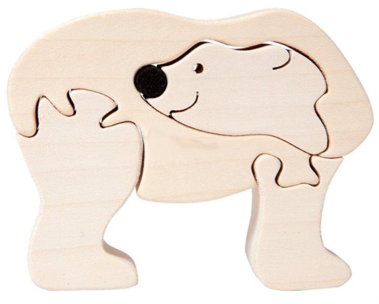 FAUNA Dřevěné puzzle Lední medvěd malý