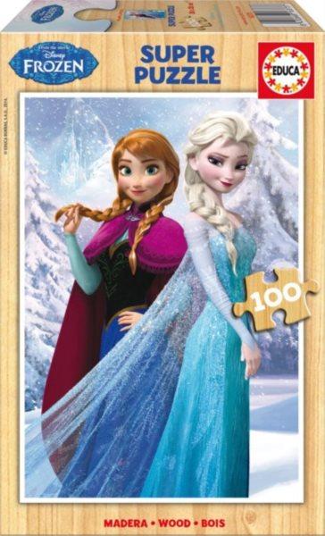 EDUCA Dřevěné puzzle Ledové království 100 dílků