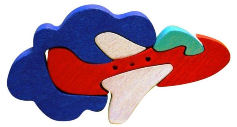 FAUNA Dřevěné puzzle Letadlo malé