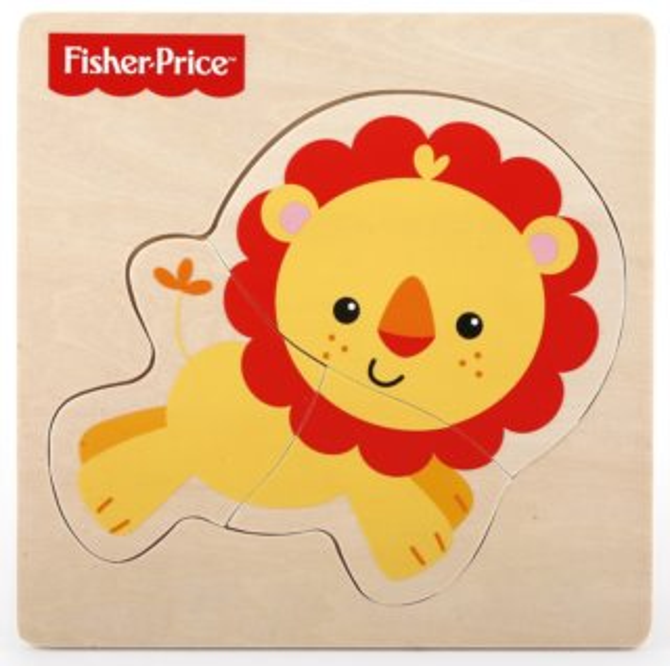 FISHER-PRICE Dřevěné puzzle Lev 3 dílky