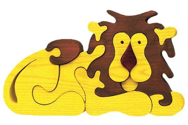 FAUNA Dřevěné puzzle Lev velký