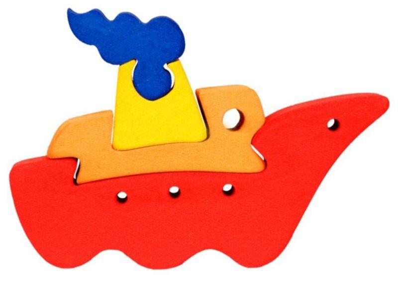 FAUNA Dřevěné puzzle Loď malá