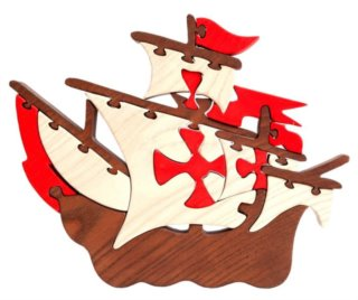FAUNA Dřevěné puzzle Loď Santa Maria