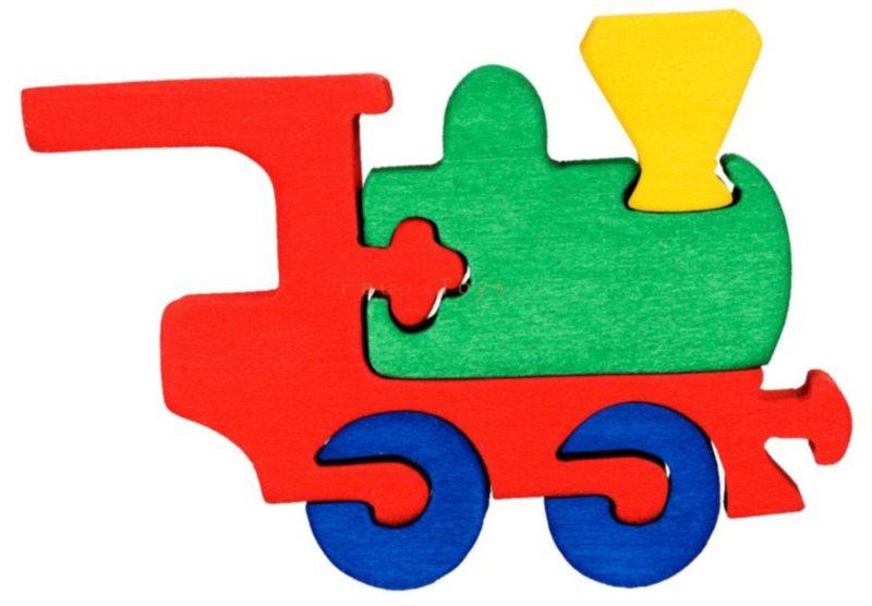 FAUNA Dřevěné puzzle Lokomotiva malá