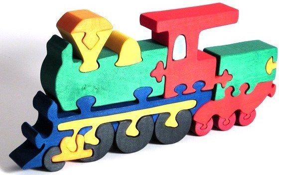 FAUNA Dřevěné puzzle Lokomotiva velká
