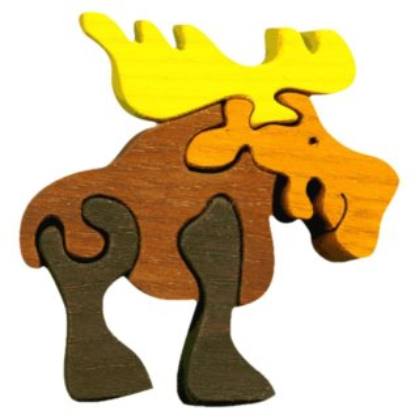 FAUNA Dřevěné puzzle Los malý