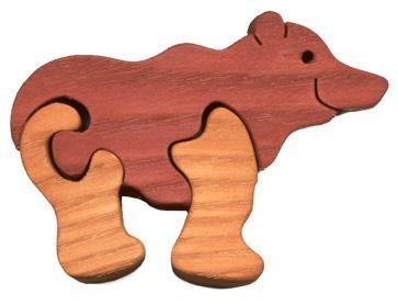 FAUNA Dřevěné puzzle Medvěd malý