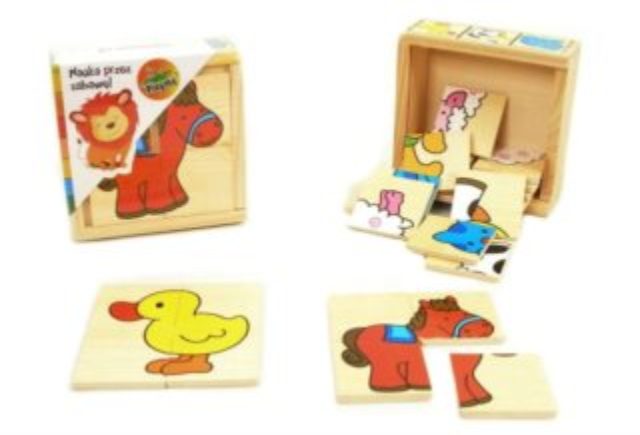 Dřevěné puzzle Na farmě 6x4 dílky