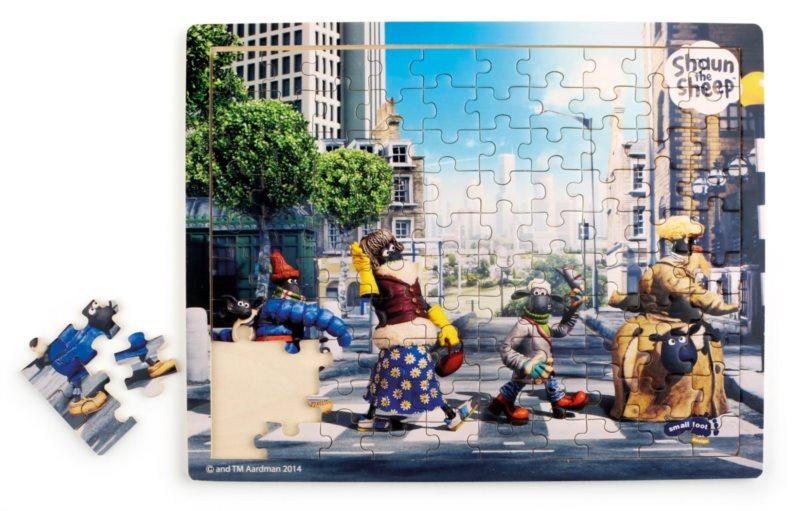 SMALL FOOT Dřevěné puzzle Ovečka Shaun Abbey Road 100 dílků