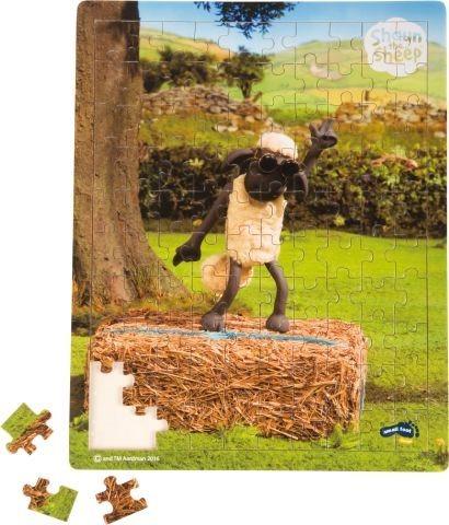 SMALL FOOT Dřevěné puzzle Ovečka Shaun Taneční hodina 100 dílků