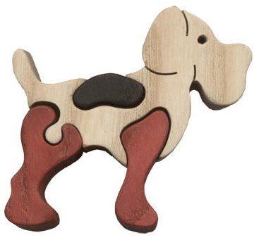 FAUNA Dřevěné puzzle Pes malý