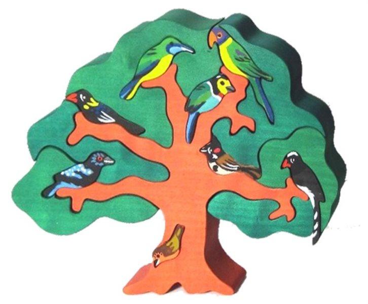 FAUNA Dřevěné puzzle Ptačí strom: Asie