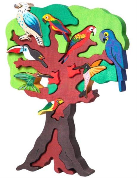 FAUNA Dřevěné puzzle Ptačí strom: Jižní Amerika