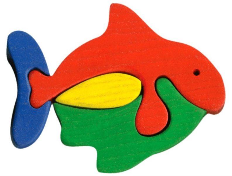 FAUNA Dřevěné puzzle Ryba malá