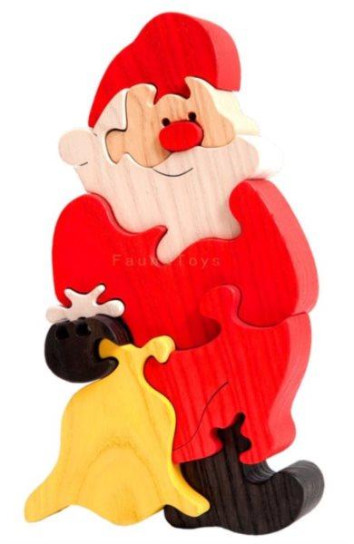 FAUNA Dřevěné puzzle Santa Claus velký