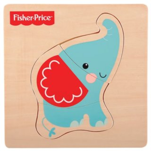 FISHER-PRICE Dřevěné puzzle Slon 3 dílky