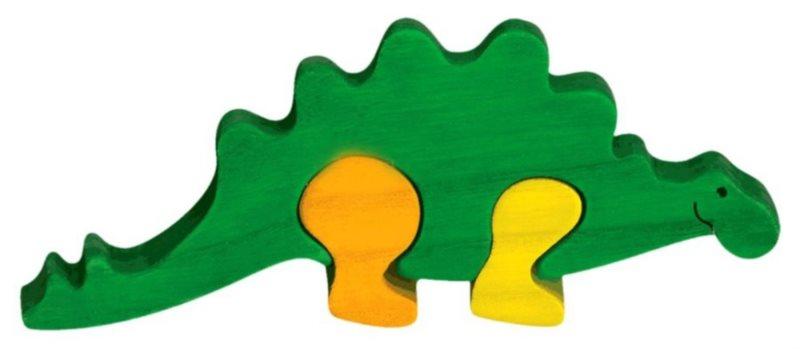 FAUNA Dřevěné puzzle Stegosaurus malý