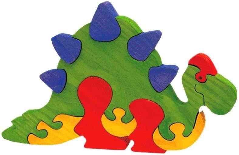 FAUNA Dřevěné puzzle Stegosaurus velký