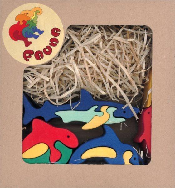 FAUNA Dřevěné puzzle V moři (mix)