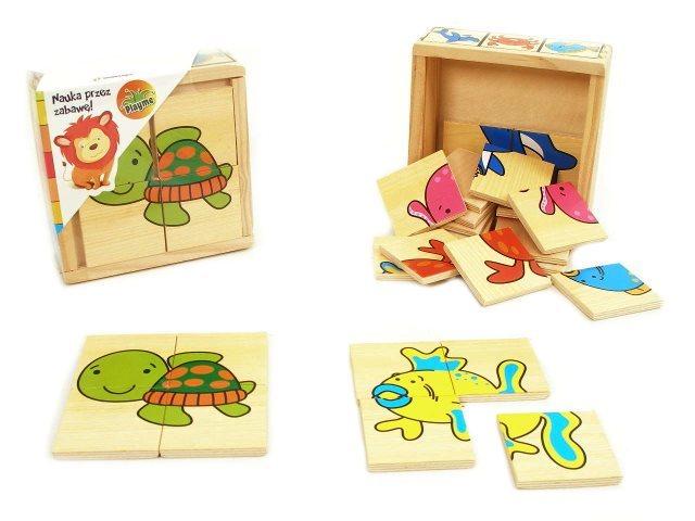 Dřevěné puzzle Ve vodě 6x4 dílky