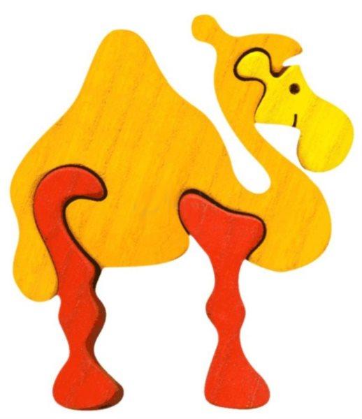 FAUNA Dřevěné puzzle Velbloud malý