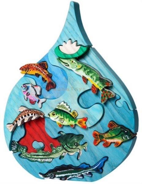 FAUNA Dřevěné puzzle Vodní svět: Dunaj
