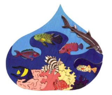 FAUNA Dřevěné puzzle Vodní svět: Rudé moře