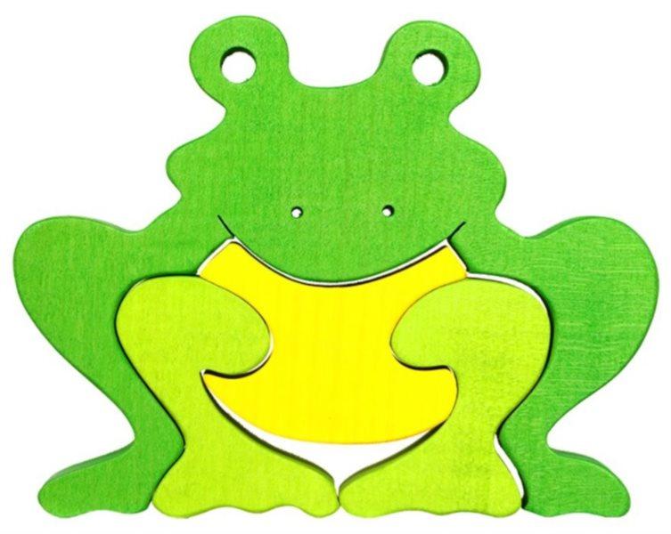 FAUNA Dřevěné puzzle Žába