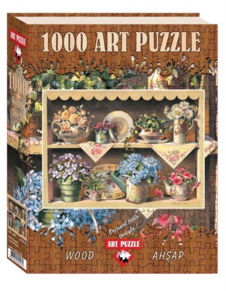 ART PUZZLE Dřevěné puzzle Zahradní police 1000 dílků