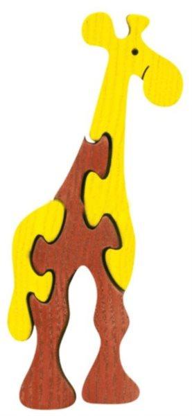 FAUNA Dřevěné puzzle Žirafa malá