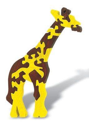 FAUNA Dřevěné puzzle Žirafa velká