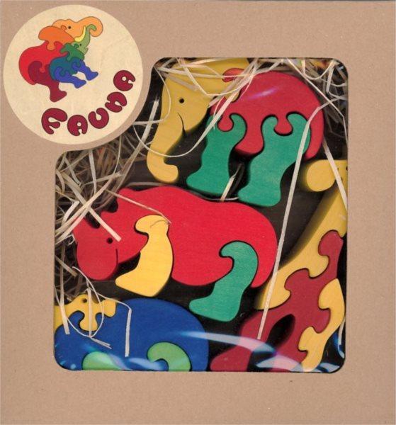 FAUNA Dřevěné puzzle Zoo (mix)