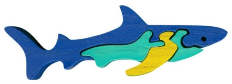FAUNA Dřevěné puzzle Žralok malý