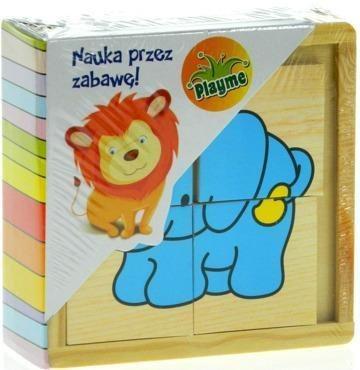 TOP BRIGHT Dřevěné puzzle Zvířata 6x4 dílky