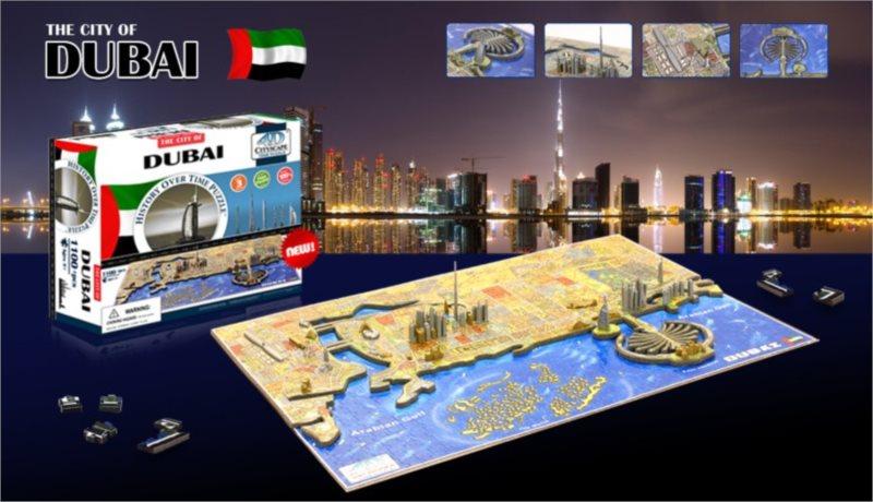 4D Cityscape Time puzzle - Dubaj 1101 dílků