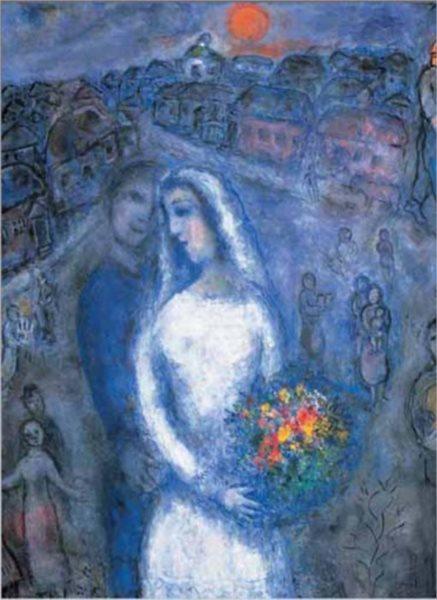 Puzzle EDITIONS RICORDI 1000 dílků - M. Chagall: Dvojice