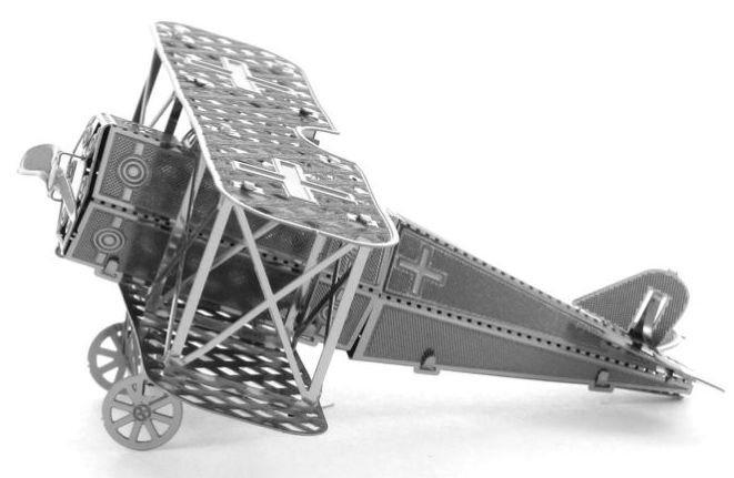 3D kovové puzzle METAL EARTH Dvouplošník Fokker D-VII