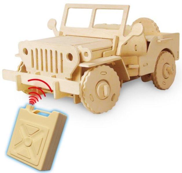ROBOTIME poškozený obal: 3D puzzle Džíp RC