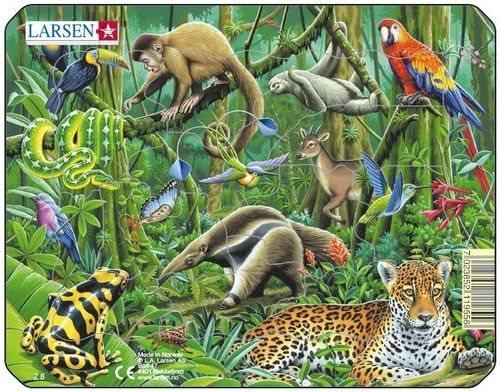 LARSEN Puzzle Džungle s levhartem 11 dílků