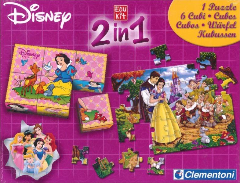 CLEMENTONI Soubor her Disney Princezny 2v1