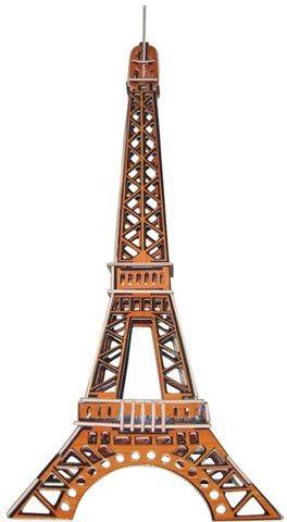 3D dřevěné puzzle Eiffelova věž barevná
