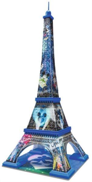3D puzzle RAVENSBURGER 216 dílků - Eiffelova věž 3D (Mickey&Minnie)