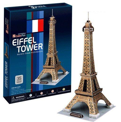 3D puzzle CUBICFUN - Eiffelova věž zlatá 3D, Paříž