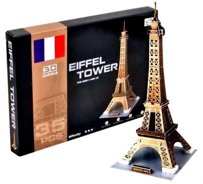 3D puzzle - Eiffelova věž, Paříž 3D, 35 dílků