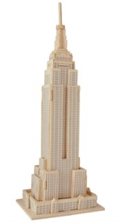 WOODEN TOY , WCK 3D puzzle Empire State Building