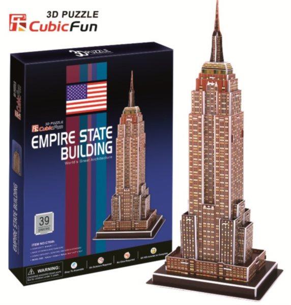 CUBICFUN 3D puzzle Empire State Building 39 dílků